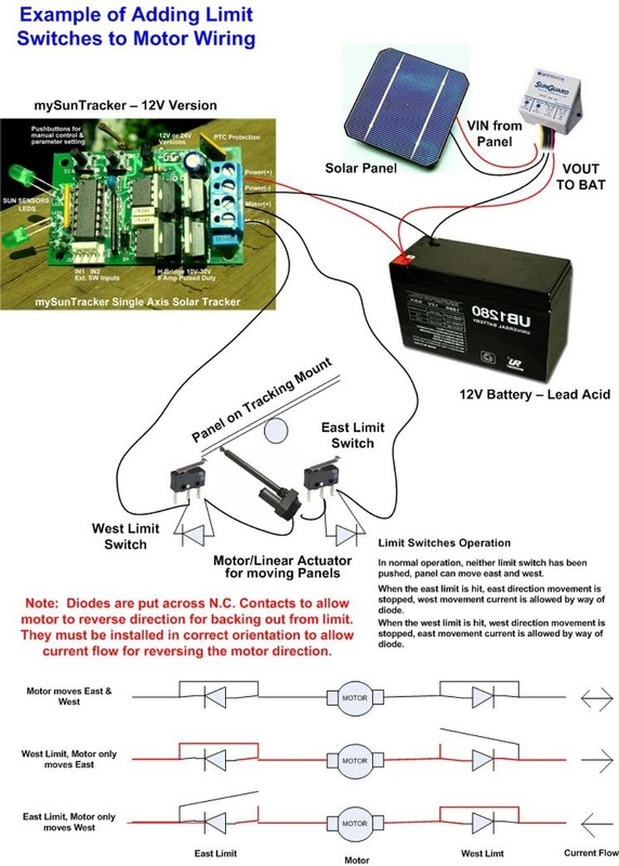 Solar Trackers Mydtc Differential Temp Controllers Tracker Circuit Limit Switch Application Info