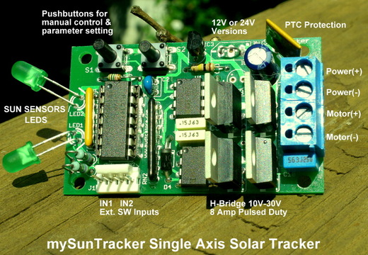 Sun Tracker Circuit Diagram